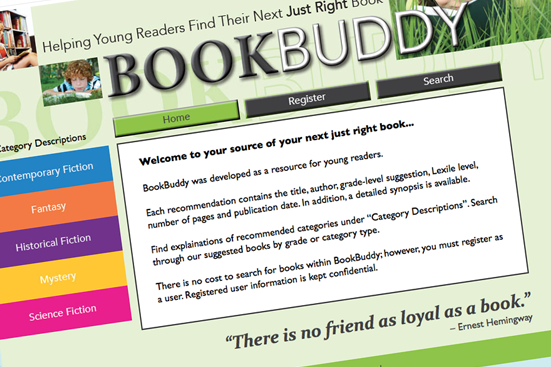 Picture of Bookbuddy Website