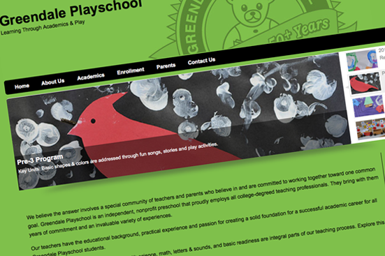 Picture of Greendale Playschool Website